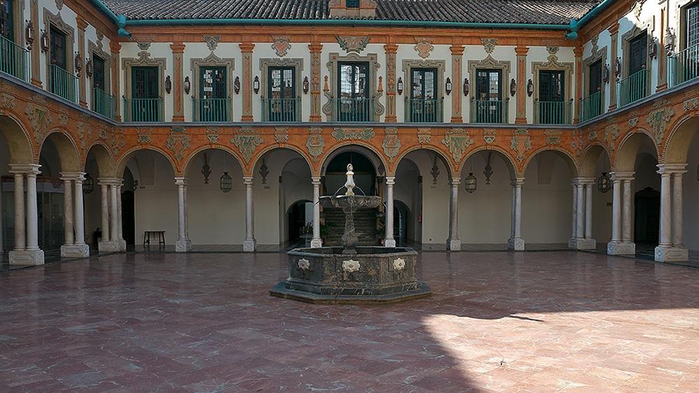 Vista general del Patio Barroco del Palacio de la Merced