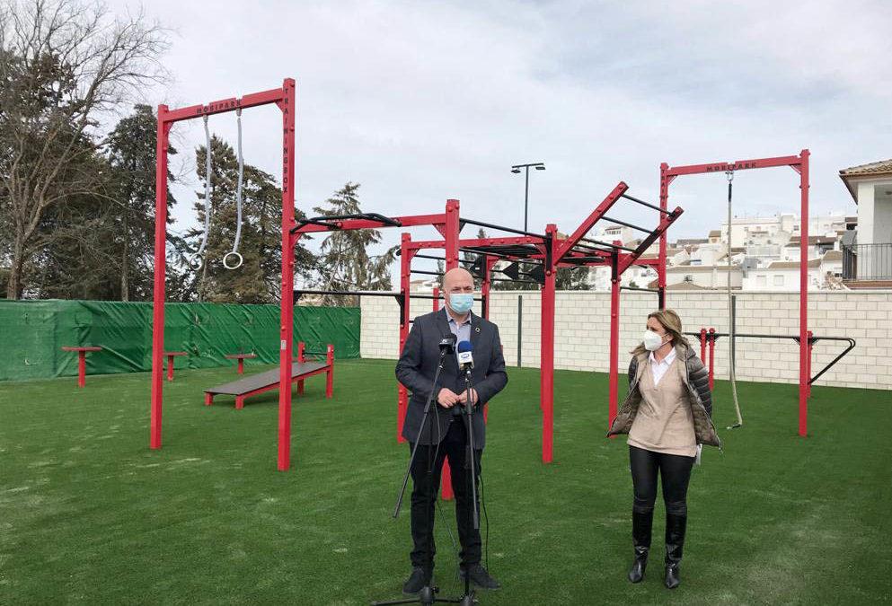 La Diputación de Córdoba respalda la puesta en marcha de un nuevo equipamiento deportivo al aire libre en Rute