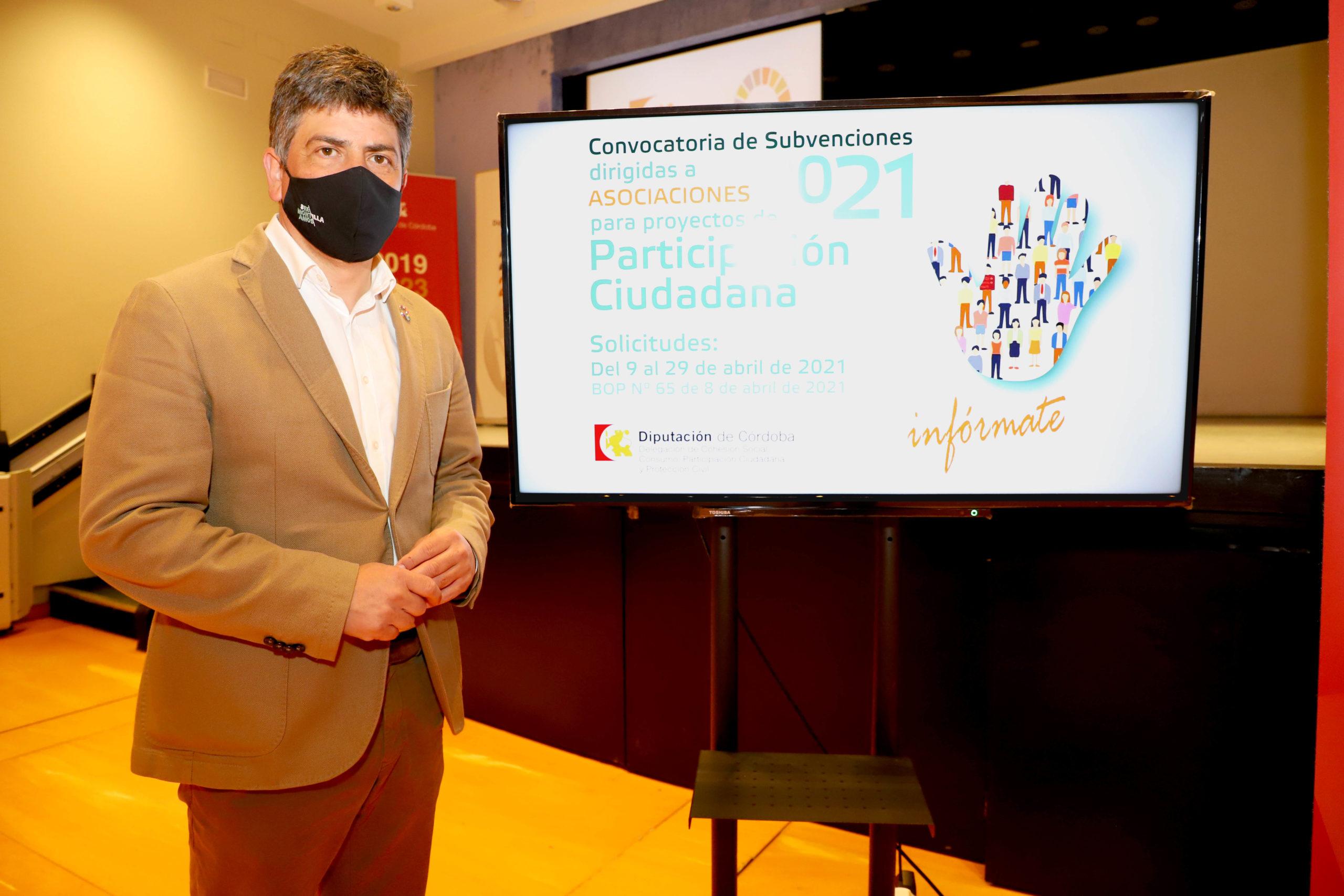 La Diputación de Córdoba abre el plazo para que las asociaciones de la provincia soliciten ayudas para proyectos de participación