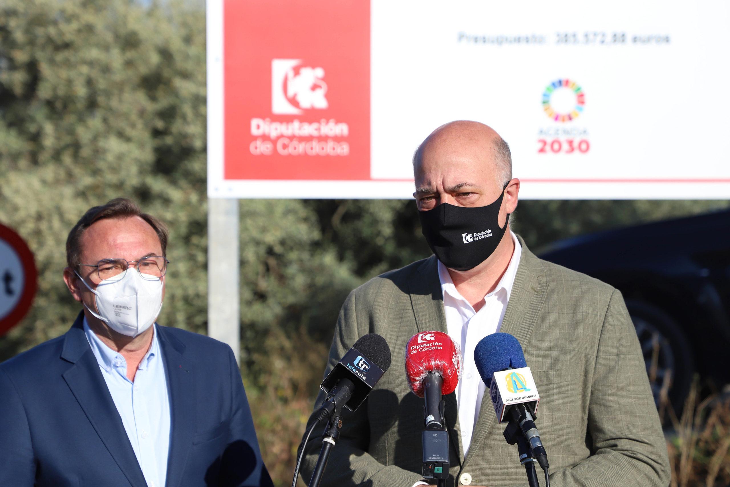 La Diputación de Córdoba culmina su actuación en las vías de comunicación de Rute con el arreglo de la carretera de Las Salinas