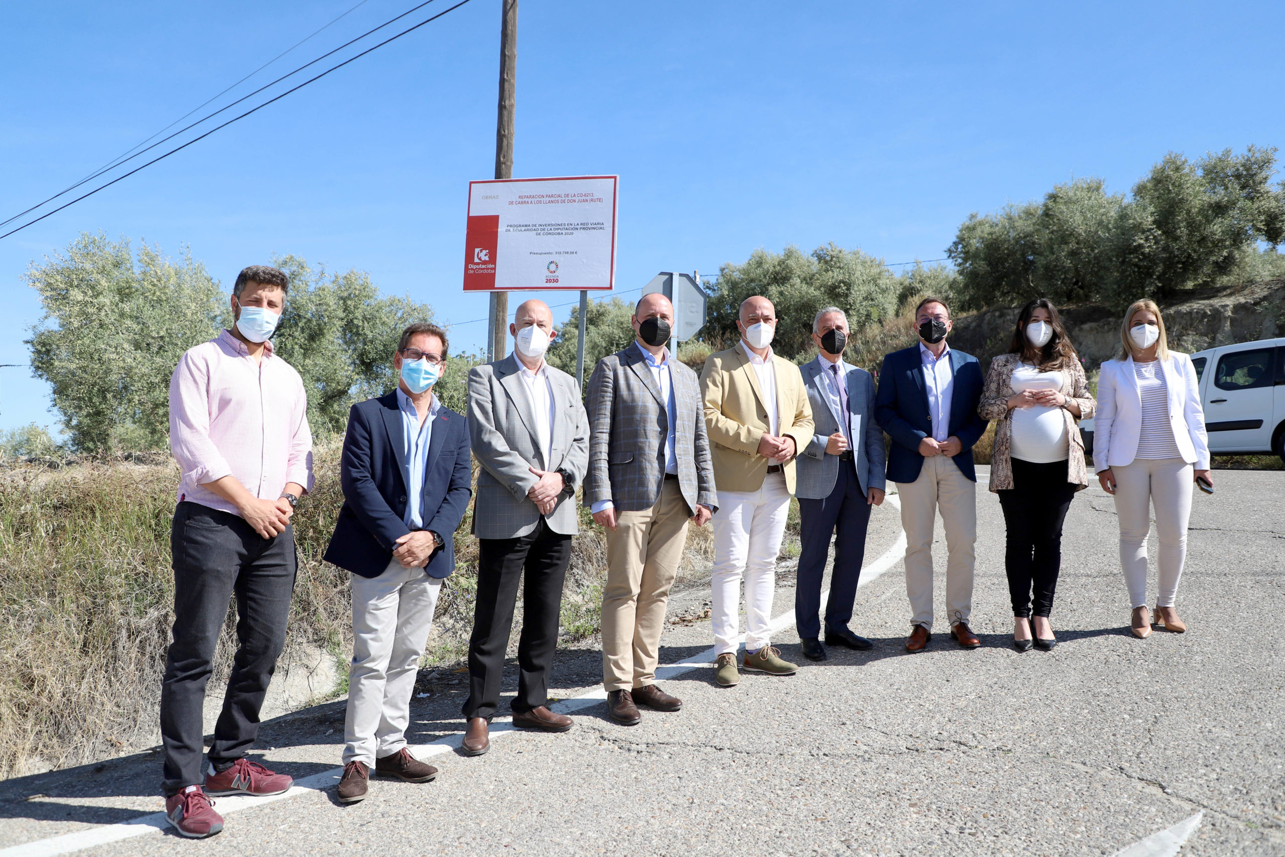 La Diputación realizará actuaciones de mejora en la CO-6213, vía fundamental para conectar Rute e Iznájar con el Hospital de Cabra