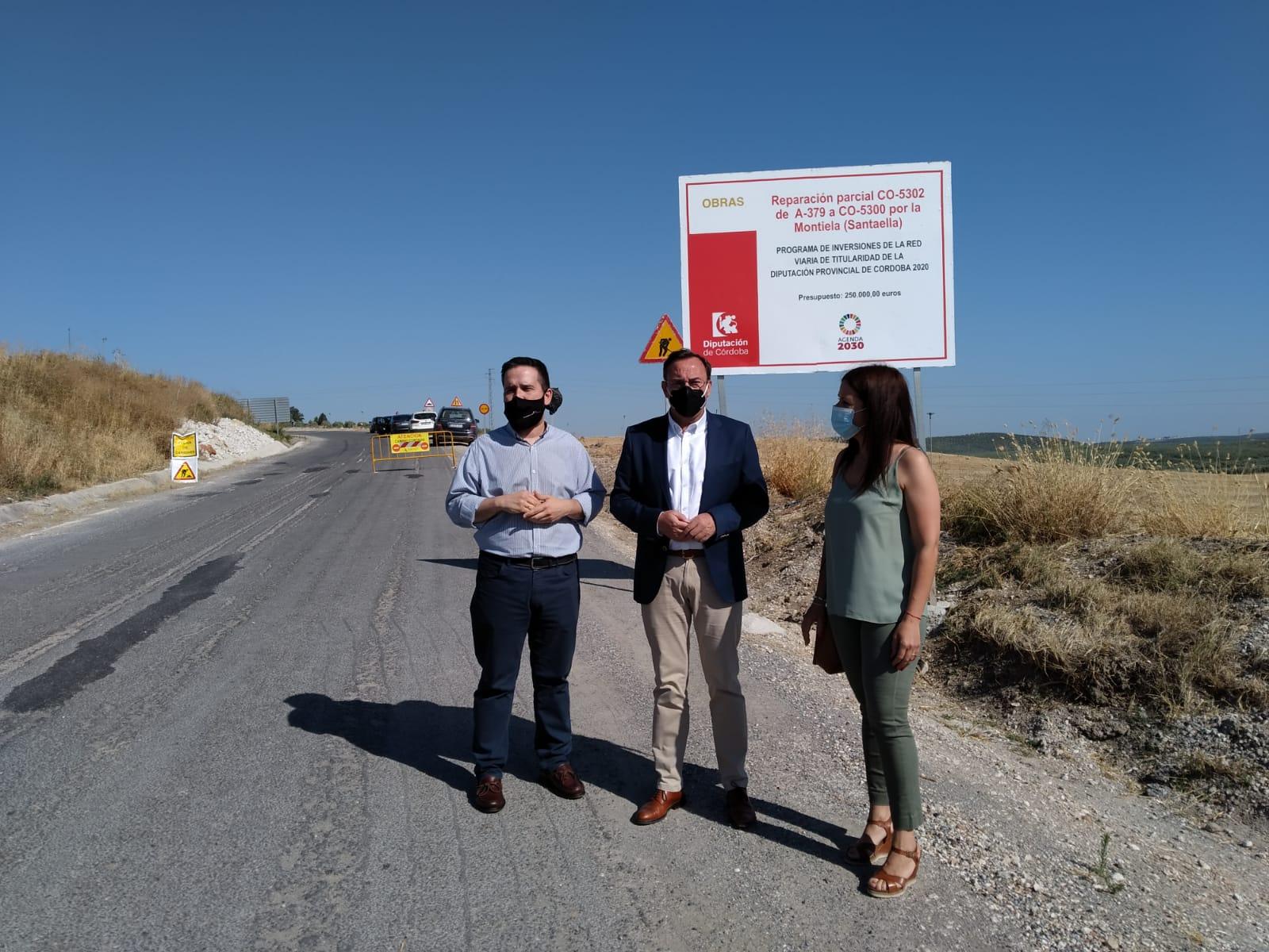 La Delegación de Carreteras de la Diputación actúa en la CO-5302 a su paso por La Montiela