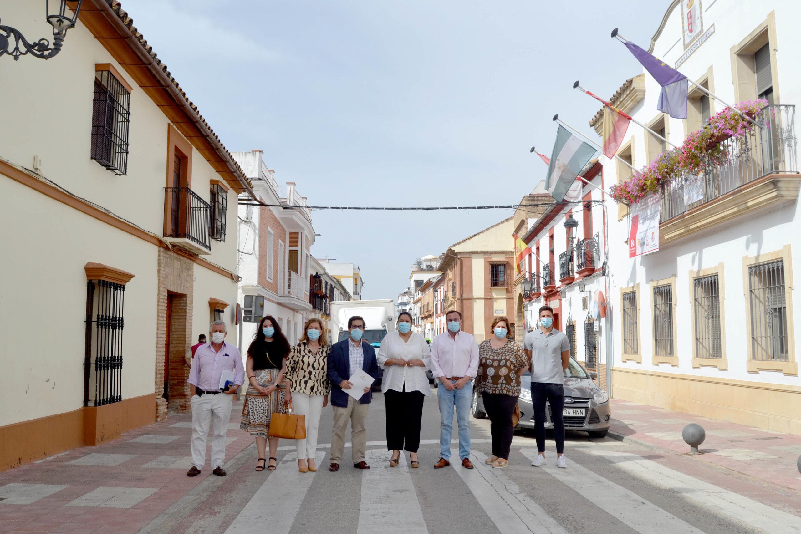 Villafranca inicia la reordenación de la calle Alcolea y de la Plaza de Andalucía para la promoción de la movilidad peatonal