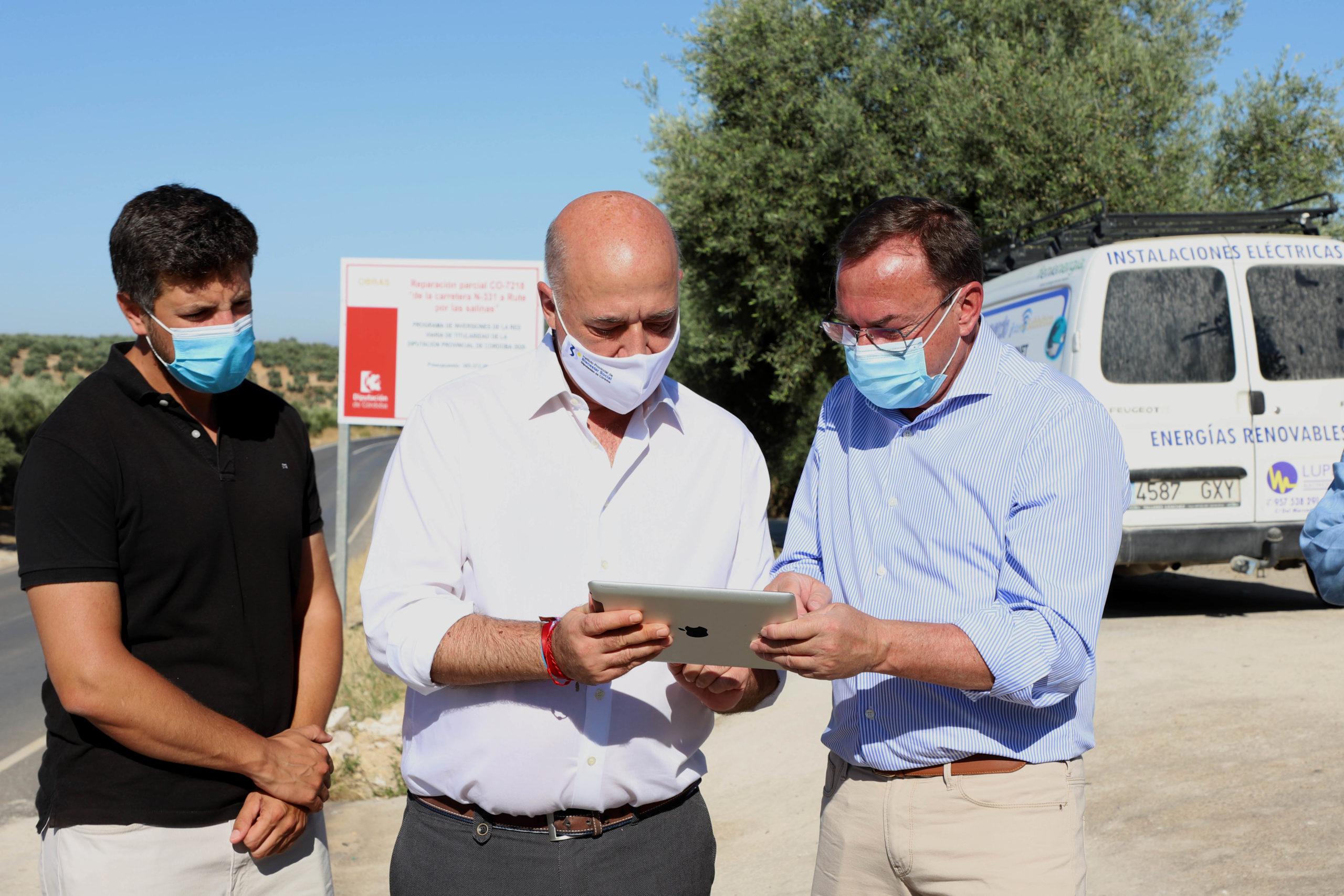 La Diputación de Córdoba culmina la reparación total de la carretera de Las Salinas, en Rute