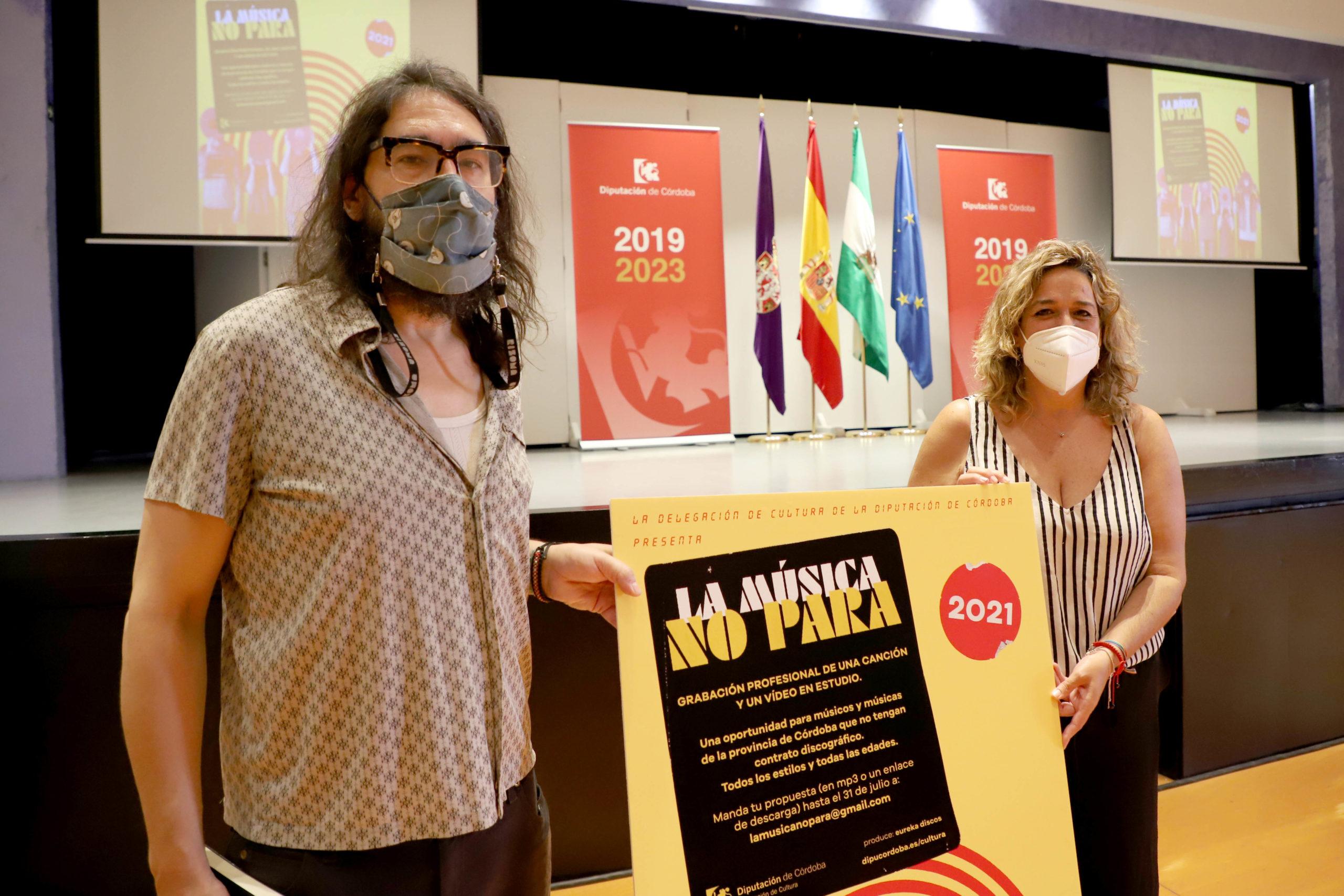 La Delegación de Cultura de la Diputación pone en marcha la iniciativa 'La música no para'