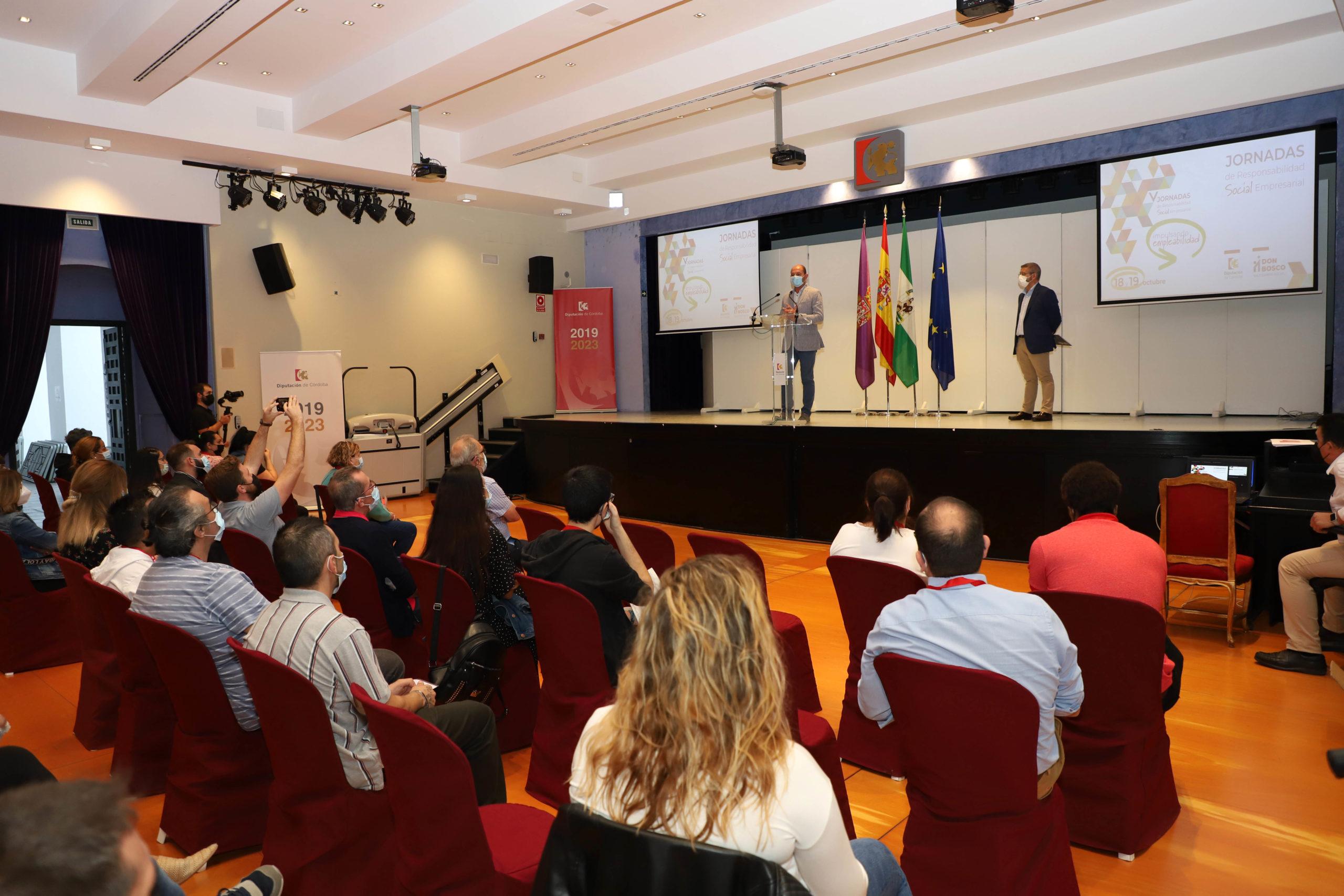 Empresas de distintos sectores se dan cita en las V Jornadas 'Impulsando la empleabilidad' que se celebran en la Diputación de Córdoba