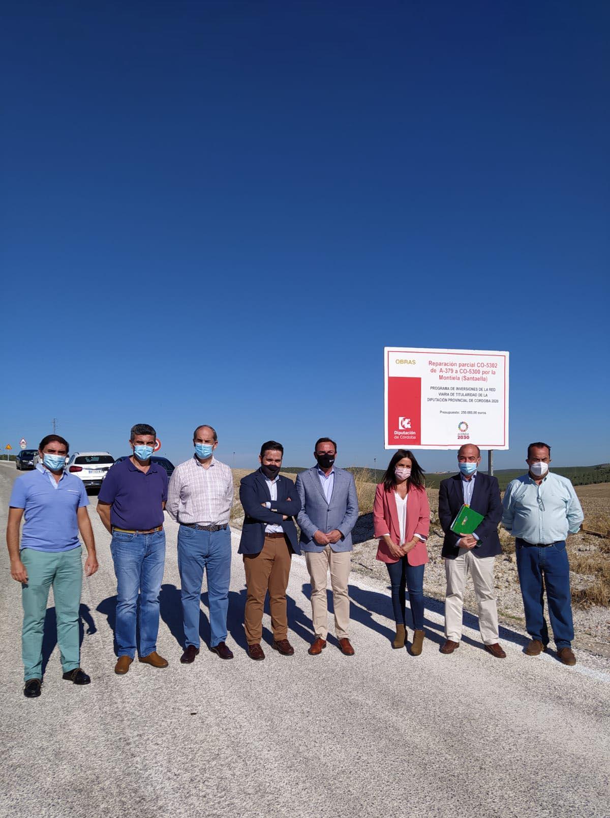 La Diputación interviene en la reparación de un tramo de la CO-5302 por La Montiela, en Santaella